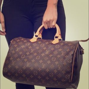 Louis Vuitton Speedy 30 mono print handle